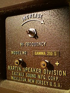 plaque connectique Martin USA Gamma 210 S